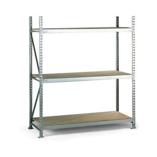 Regały warsztatowe, Regał półkowy, nośność 600 kg, 2500x1800x800 mm, podstawowy