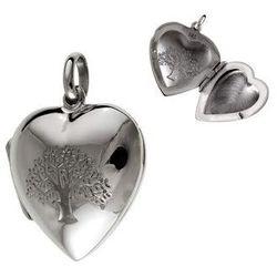 Srebrna otwierana zawieszka duże serce puzderko drzewo życia srebro 925 W0283
