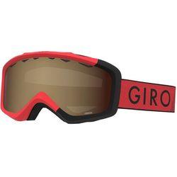 Giro Grade Gogle Dzieci, red/black zoom/amber rose 2019 Gogle narciarskie
