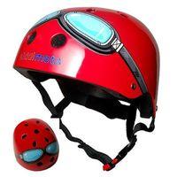 Kaski ochronne dla dzieci, kiddimoto® Kask ochronny Design Sport, Pilot czerwony - rozm. M, 53-58cm