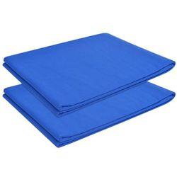 vidaXL Prześcieradła, 2 szt., bawełna, 240x260 cm, niebieskie Darmowa wysyłka i zwroty