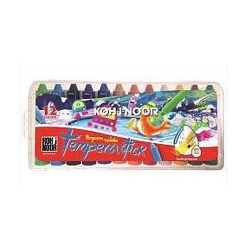 Kredki, Kredki woskowe wykręcane Tempera Stick 12 kolorów
