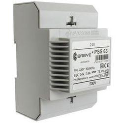 Transformator 1-fazowy na szynę PSS 63VA 230/24V 16024-9979 Breve