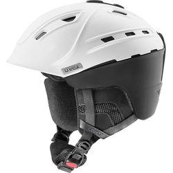 UVEX p2us IAS Kask narciarski, white/black mat 55-59cm 2019 Kaski narciarskie