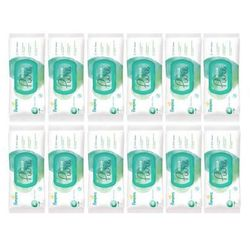 Zestaw 12x PAMPERS 48szt Aqua Pure Chusteczki nawilżane dla niemowląt