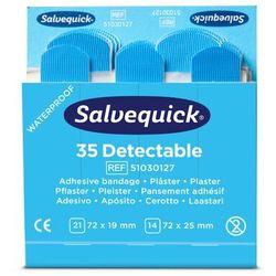 Plastry Opatrunkowe Salvequick Blue Detectable Cederroth - 2 Opakowania - 70 Sztuk
