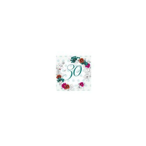 Pozostałe artykuły szkolne, Karnet Swarovski kwadrat CL1430 Urodziny 30 kwiaty