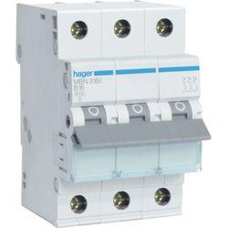 Hager MCB Wyłącznik nadprądowy Icn=6000A 3P C 63A MCN363E
