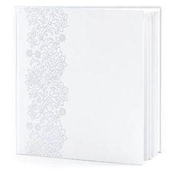 Księga gości weselnych biała ze srebrnym wzorem - 22 kartki