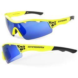Okulary STINGRAY żółte, 2 pary soczewek