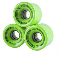 Pozostały skating, Kółka do fiszek 60 x 45mm - 4szt. zielone