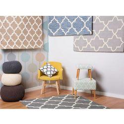 Dywan szary - 160x230 cm - nowoczesny - handmade - bawełna - SILVAN