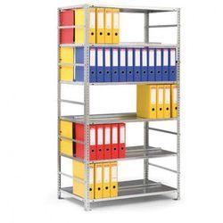 Regał na segregatory COMPACT, ocynk, 6 półek, 1850x1000x600 mm, podstawowy