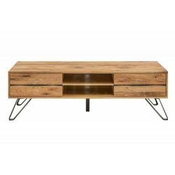 INVICTA szafka pod telewizor Living Edge - 160 cm dziki dąb, drewno naturalne, metal