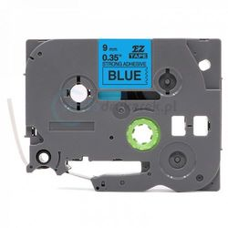 Taśma Brother TZe-S521 mocny klej niebieska/czarny nadruk 9mm x 8m zamiennik