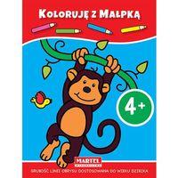 Książki dla dzieci, Koloruję z małpką 4+ (opr. miękka)