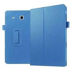 Niebieskie etui skórzane PU Stand Cover Galaxy Tab E 9.6 T560 - Niebieski