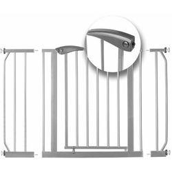 Barierka zabezpieczająca bramka na schody i drzwi Ricokids szara