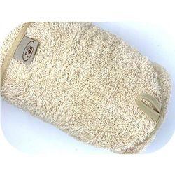 Beżowe okrycie kąpielowe 75x75 ręcznik z kapturkiem Ega