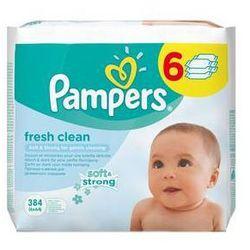 Ściereczki Pampers Baby Fresh clean, 6 x 64 szt.