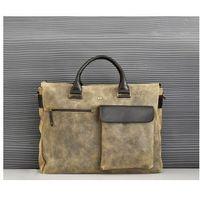 Pokrowce, torby, plecaki do notebooków, JAZZY RISK UP 151 torba skóra naturalna firmy Daag miejsce na notebook na ramię unisex