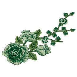 Naszywka zielona gałązka i kwiat 30cm x max 13cm - ZIELONA