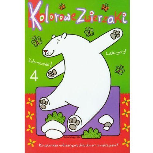 Książki dla dzieci, Kolorowe zwierzaki 4 (opr. miękka)