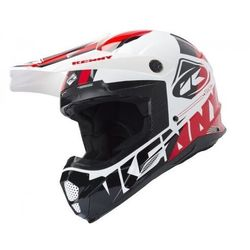 KENNY KASK OFF-ROAD TRACK WHITE BLACK RED 2019