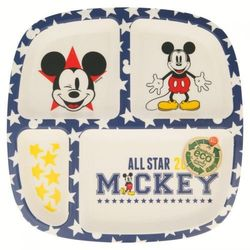 Mickey Mouse - Talerzyk z przedziałką bambusowy