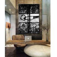 Antyki, Popielato czarna abstrakcja - abstrakcyjne obrazy do modnego salonu rabat 10%