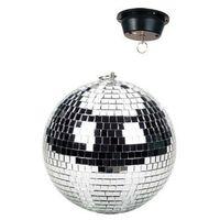 Zestawy i sprzęt DJ, Skytec 30cm lustrzana kula dyskotekowa z napędem, montaż na suficie