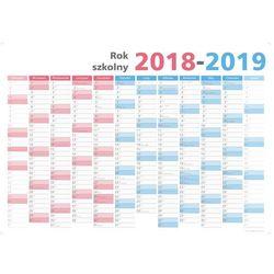Suchościeralny kalendarz na rok SZKOLNY 2018/19, 102x144cm (B0) z mocowaniem