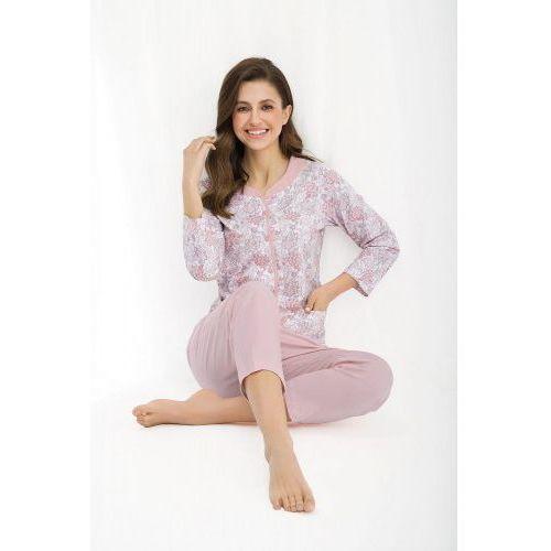 Piżamy damskie, Bawełniana piżama damska LUNA 458 różowa