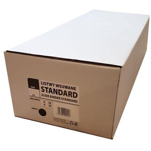 Grzbiety do bindownic, Listwy do bindowania wsuwane standard Argo, czarne, 15 mm, 50 sztuk, oprawa do 75 kartek - Autoryzowana dystrybucja - Szybka dostawa - Tel.(34)366-72-72 - sklep@solokolos.pl