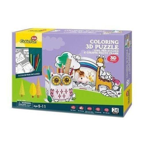 Puzzle, Puzzle 3D Sowa do kolorowania