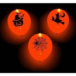 Balon świecący pomarańczowy na Halloween - 25 cm - 1 szt.