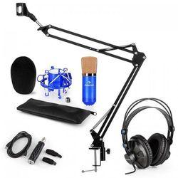 Auna CM001BG Zestaw mikrofonowy V3 słuchawki mikrofon adapter USB ramię mikrofon