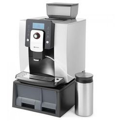 Ekspres do kawy z młynkiem automatyczny Profi Line srebrny Hendi 208953