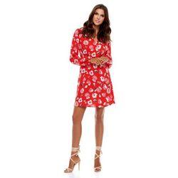Sukienka Regi czerwona w kwiaty