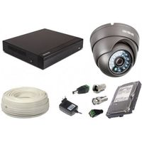 Zestawy monitoringowe, Zestaw AHD, 1x Kamera HD/IR35, Rejestrator 4ch + 500GB
