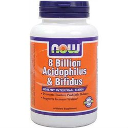 8 Billion Acidophilus & Bifidus 8 miliardów bakterii probiotyk 60 kapsułek NOW FOODS