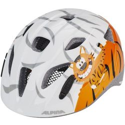 Alpina Ximo Kask rowerowy Dzieci pomarańczowy/biały 45-49cm 2018 Kaski dla dzieci Przy złożeniu zamówienia do godziny 16 ( od Pon. do Pt., wszystkie metody płatności z wyjątkiem przelewu bankowego), wysyłka odbędzie się tego samego dnia.