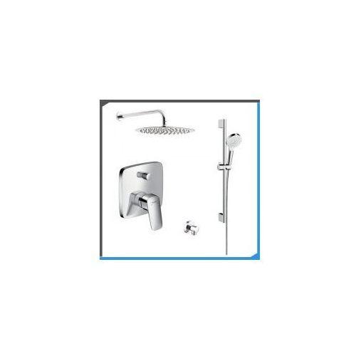 Zestawy Podtynkowy zestaw prysznicowy z baterią hansgrohe logis 71405000, chrom zest202
