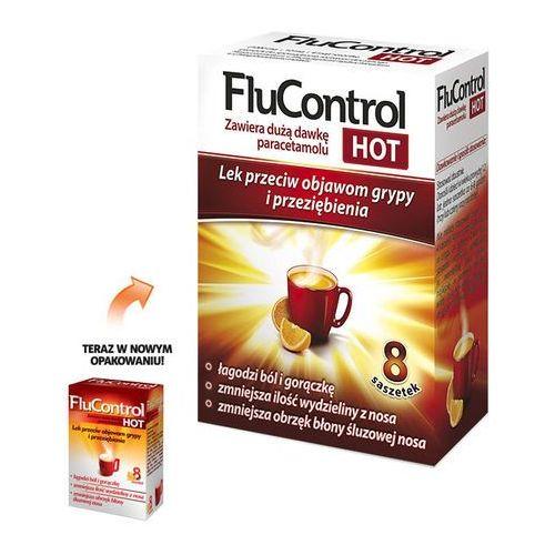 Leki na gorączkę, Flucontrol Hot prosz.do sp.rozt.doust. 1g+0,01g+4mg 8 sasz.a 5,5g