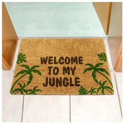Wycieraczka z napisem Welcome to MY Jungle