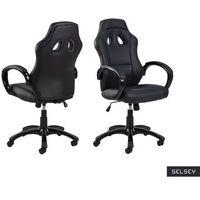 Fotele dla graczy, SELSEY Fotel gamingowy Venoste szary