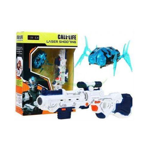 Karabiny dla dzieci, Zestaw Strzelecki NANOROBOT: Mini-Karabin Laserowy + Poruszający się Cel (robak).