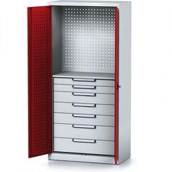 Szafa warsztatowa MECHANIC, 1950 x 920 x 500 mm, 1 półka, 7 szuflad, czerwone drzwi