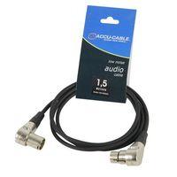 Akcesoria DJ, Accu Cable przewód DMX 3 110 Ohm 1,5m wtyki kątowe