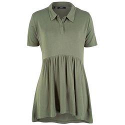 Shirt polo, fason o linii A, krótki rękaw bonprix oliwkowy